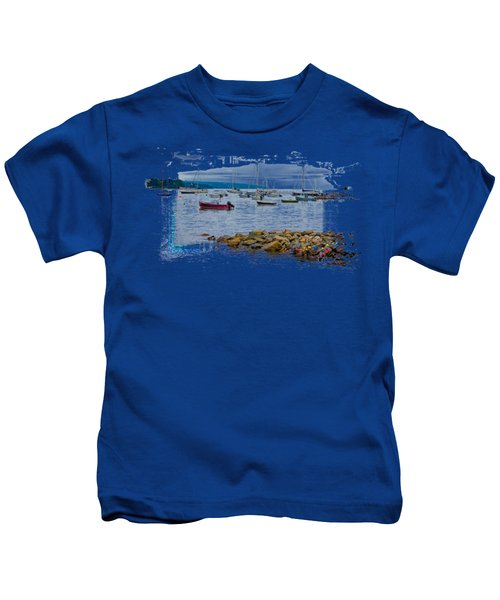Moorings 2 Kids T-Shirt by John M Bailey