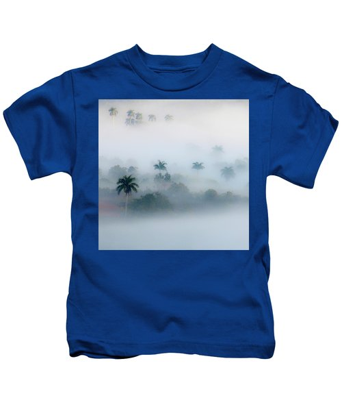 Morning Fog, Vinales Valley Kids T-Shirt