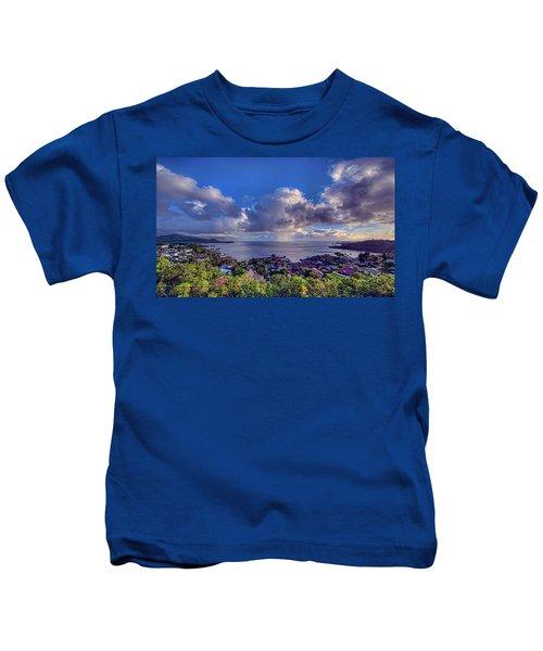 Morning Rain In Kaneohe Bay Kids T-Shirt