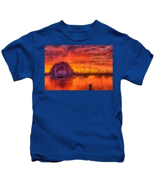 Morro Bay Marina Kids T-Shirt