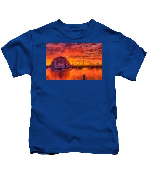Morro Bay Marina Kids T-Shirt