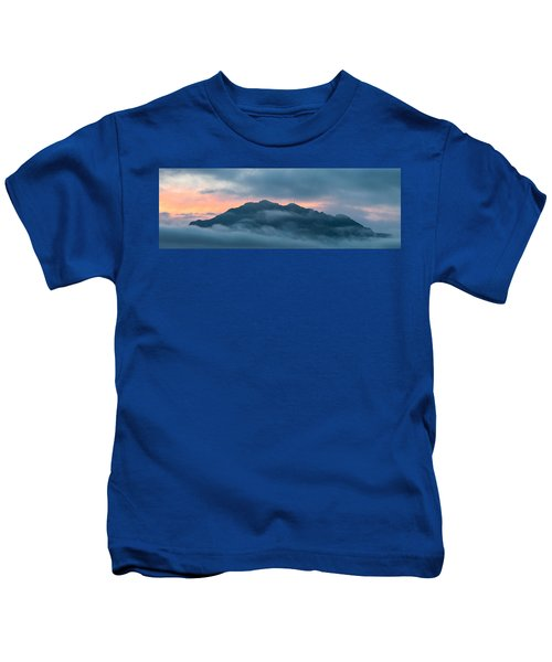 Mount Franklin Stormy Winter Sunset Pano Kids T-Shirt