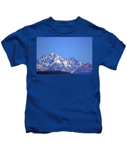 Mountain Range Washington State Kids T-Shirt