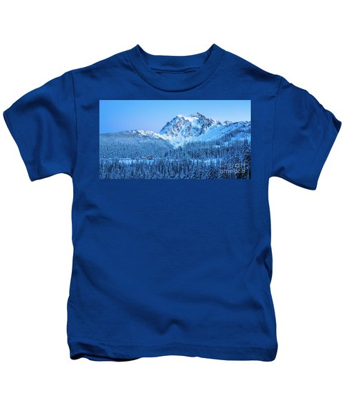 Mount Shuksan Winter Tranquility Kids T-Shirt