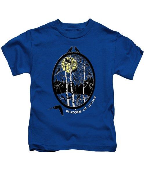 Murder Of Crows Kids T-Shirt