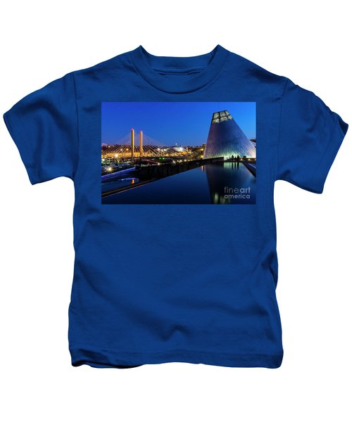 Museum Of Glass At Blue Hour Kids T-Shirt