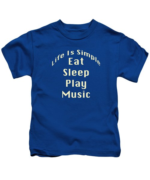 Music Eat Sleep Play Music 5507.02 Kids T-Shirt