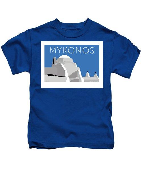 Mykonos Paraportiani - Blue Kids T-Shirt