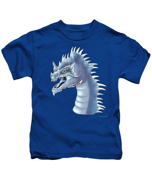 Mystical Ice Dragon Kids T-Shirt by Glenn Holbrook