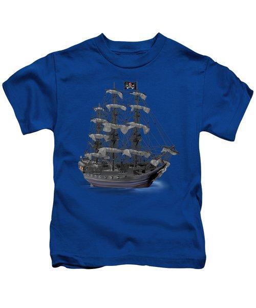 Mystical Moonlit Pirate Ship Kids T-Shirt