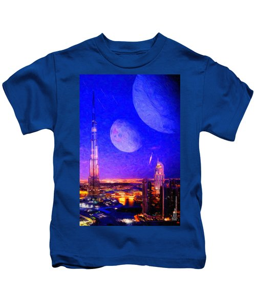 New Dubai On Tau Ceti E Kids T-Shirt