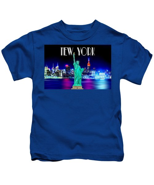 New York Shines Kids T-Shirt by Az Jackson