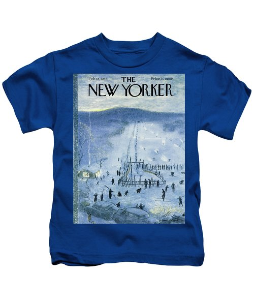 New Yorker February 18 1956 Kids T-Shirt