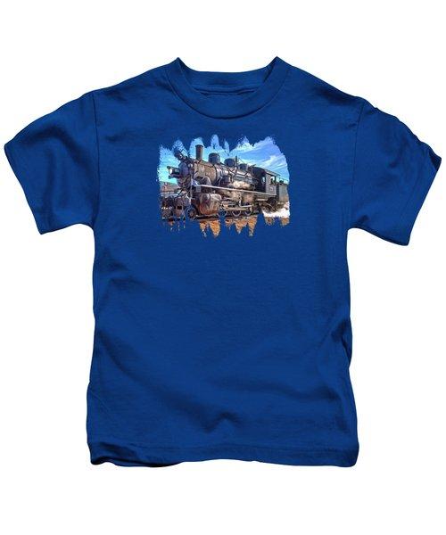 No. 25 Steam Locomotive Kids T-Shirt by Thom Zehrfeld