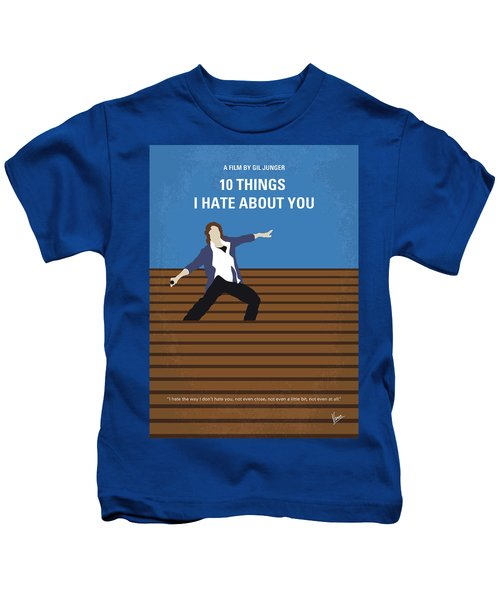 No850 My 10 Things I Hate About You Minimal Movie Poster Kids T-Shirt