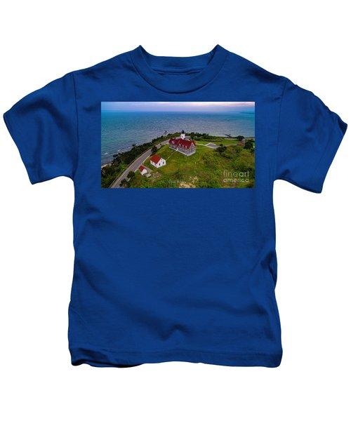 Nobska Point Lighthouse Kids T-Shirt