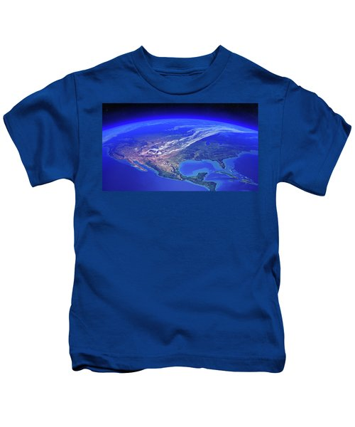North America Seen From Space Kids T-Shirt