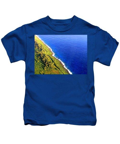 North Coast Of Tinian At Sunrise Kids T-Shirt