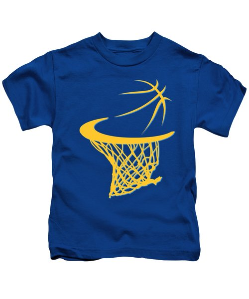 Nuggets Basketball Hoop Kids T-Shirt