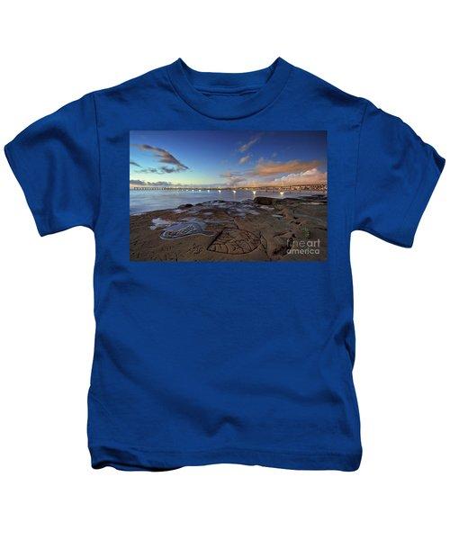 Ocean Beach Pier At Sunset, San Diego, California Kids T-Shirt