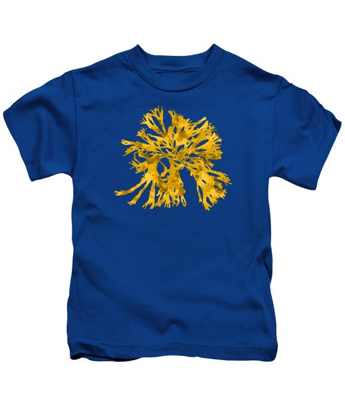 Kids T-Shirt featuring the mixed media Ocean Seaweed Plant Art Rhodomenia Sobolifera Square by Christina Rollo