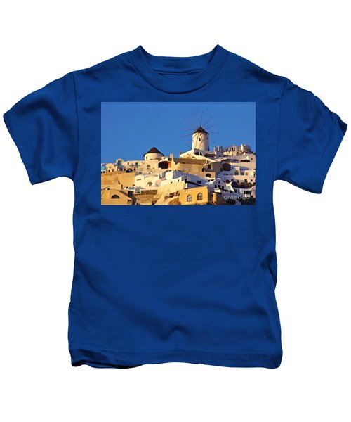 Oia Windmill Kids T-Shirt