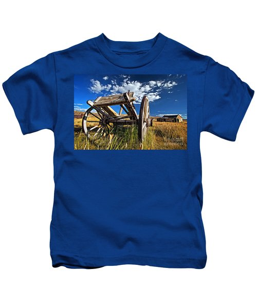 Old Abandoned Wagon, Bodie Ghost Town, California Kids T-Shirt