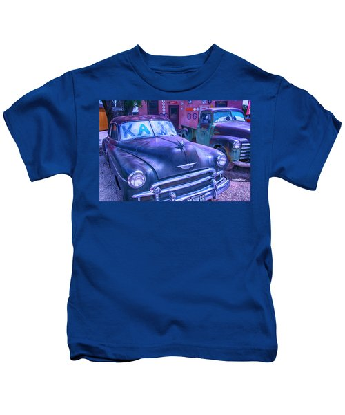 Old Car And Pickup Route 66 Kids T-Shirt
