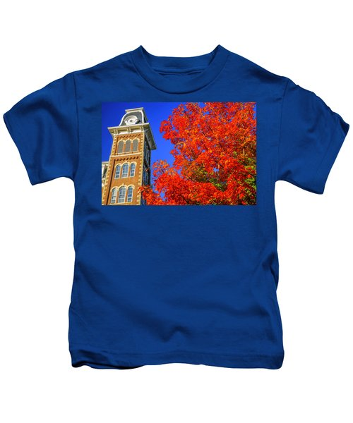 Old Main Maple Kids T-Shirt by Damon Shaw