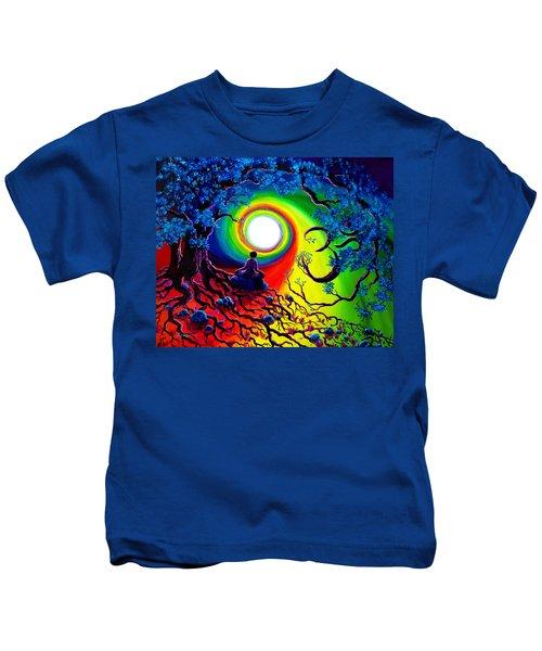 Om Tree Of Life Meditation Kids T-Shirt