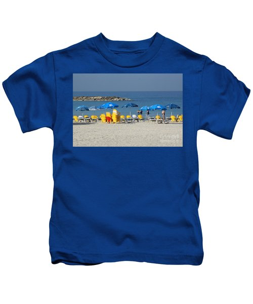 On The Beach-tel Aviv Kids T-Shirt