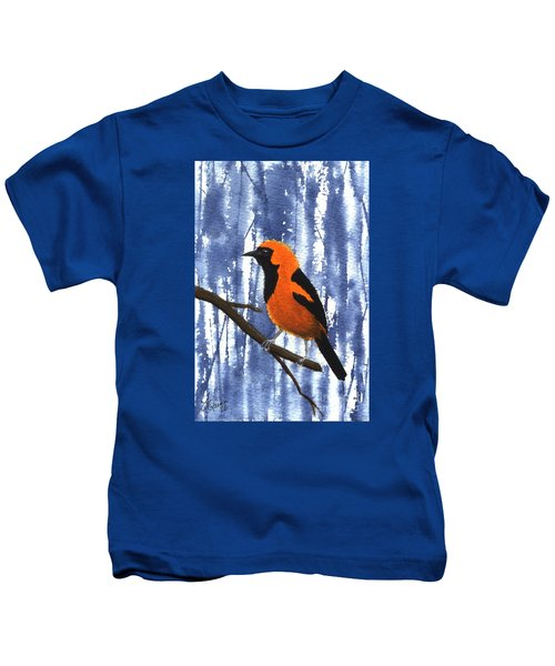 Orange-headed Oriole Kids T-Shirt