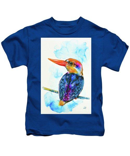Oriental Dwarf Kingfisher Kids T-Shirt