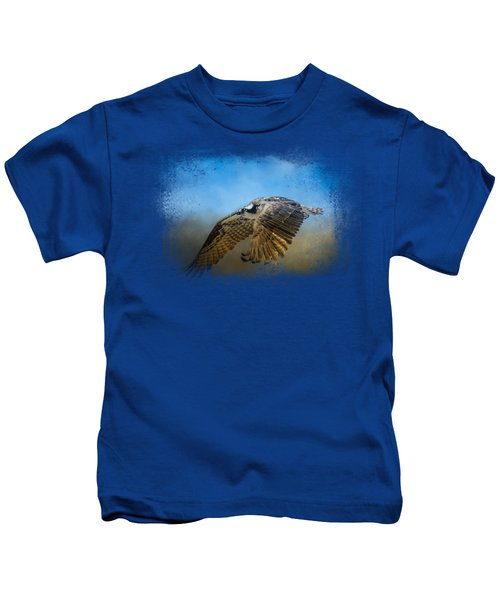 Osprey Over Pickwick Kids T-Shirt by Jai Johnson
