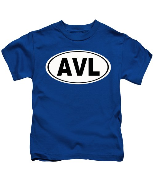 Oval Avl Asheville North Carolina Home Pride Kids T-Shirt