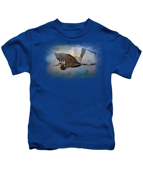 Over Ocean Skies Kids T-Shirt by Jai Johnson