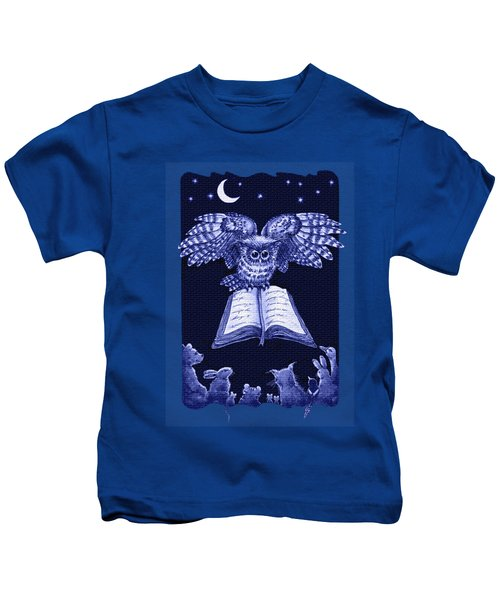 Owl And Friends Indigo Blue Kids T-Shirt