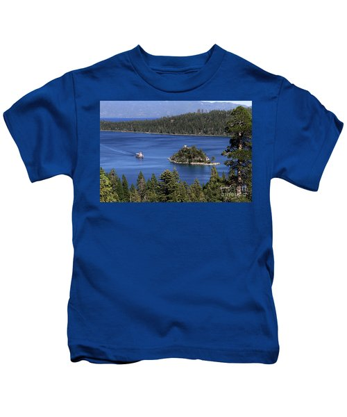 Paddle Boat Emerald Bay Lake Tahoe California Kids T-Shirt