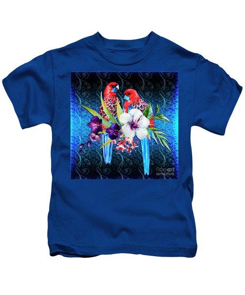 Paired Parrots Kids T-Shirt