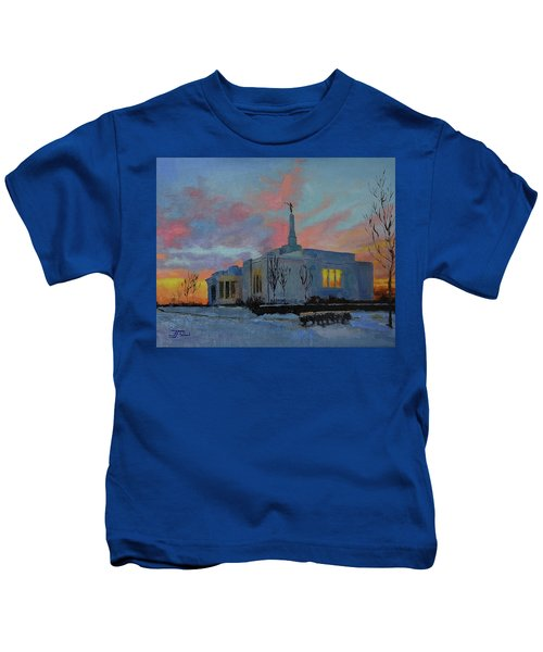 Palmyra Temple At Sunset Kids T-Shirt