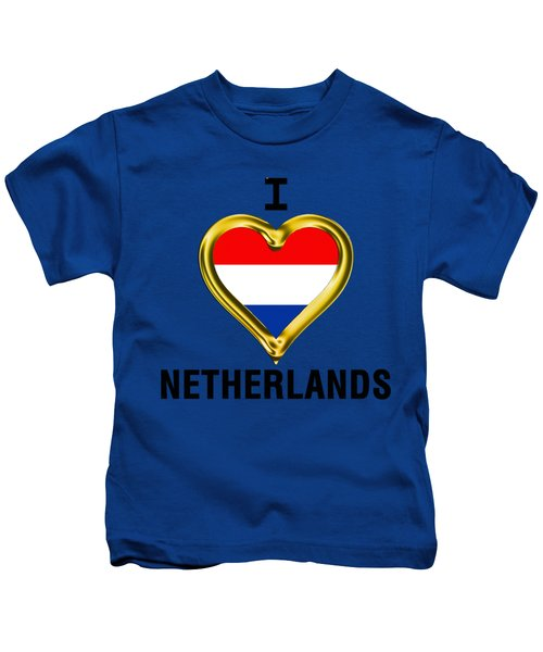 Parchment Background I Heart Netherlands Kids T-Shirt