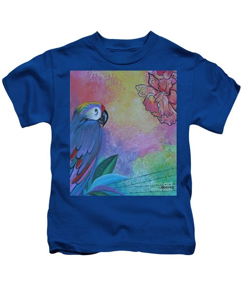 Parrot In Paradise Kids T-Shirt