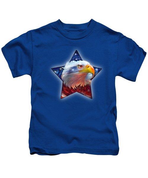 Patriotic Eagle Star Kids T-Shirt