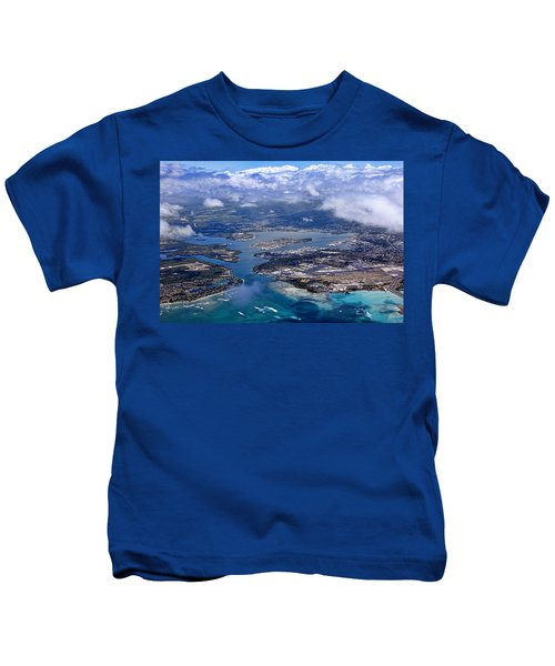 Pearl Harbor Aerial View Kids T-Shirt