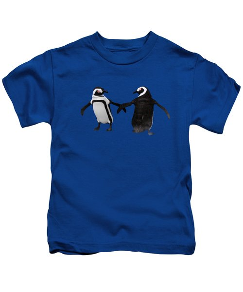 Penguin Dance Kids T-Shirt by Methune Hively