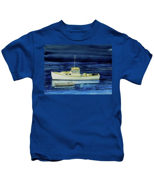Perkins Cove Lobster Boat And Skiff Kids T-Shirt