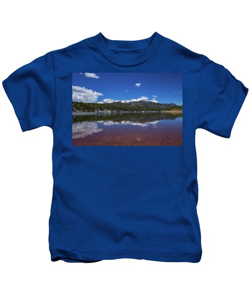 Pike's Peak Red Reflection Kids T-Shirt