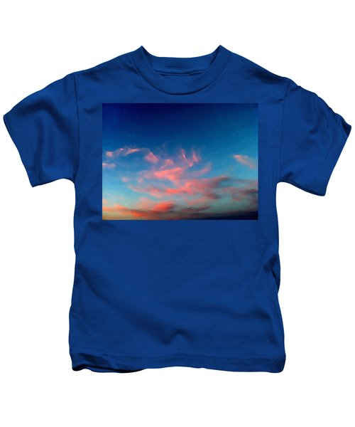 Pink Clouds Abstract Kids T-Shirt