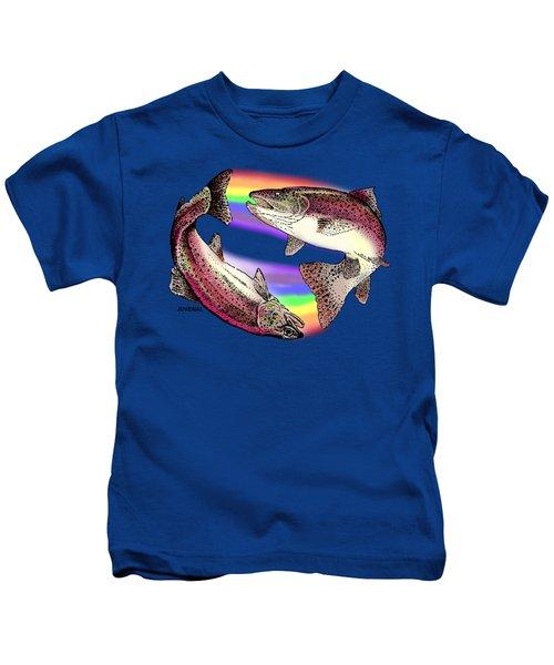 Pisces Artist Kids T-Shirt by Joseph Juvenal