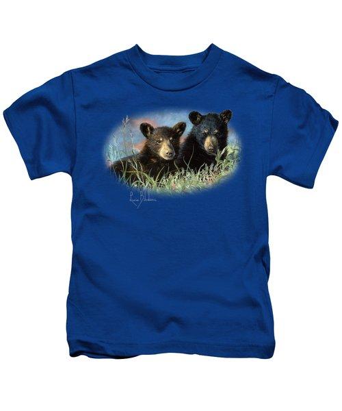 Playmates Kids T-Shirt by Lucie Bilodeau